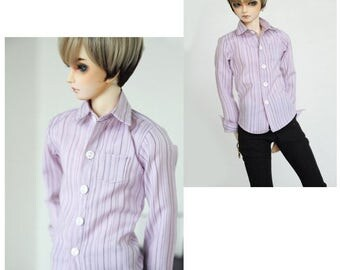 SAYOKO outfit for LUTS dollfie 1/4 BJD Doll - Pink Striped shirt (No.A672)