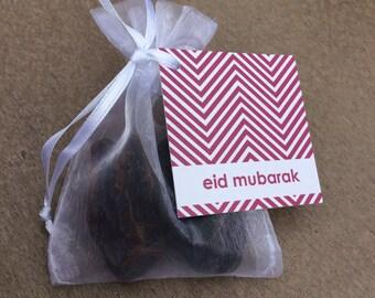 Set of 6 Organza Bags with Eid Mubarak Tags