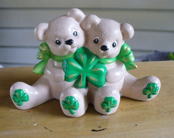 Hand Painted Shamrock Cuddle Bears