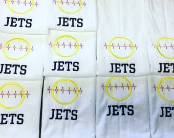 Personalized Tennis towel for team, coach gift in any colors with  custom embroidery on name per towel with this listing.