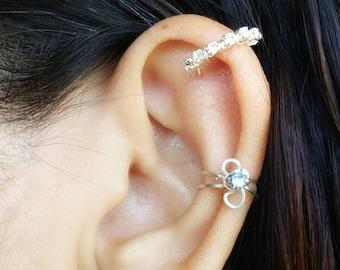 Dainty Ear Cuff - Bridal Ear Cuff - Bridesmaid Jewelry - Edgy Jewelry - Bridesmaid Gift - Ear Cartilage Earrings - Ear Cuff No Piercing