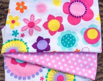 Stars and Flowers, ***STAGE 1*** Children's G Tube Belly Band Wrap, (waist size 17.5-19.5 inches)