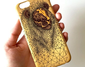 Lion phone case // Illustrated Animal phone case // iPhone 7 / 7 Plus / 6 / 6S / SE / 5 / 5S // Samsung Galaxy S7 / S6 / S6 Edge / S5