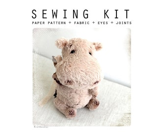 SEWING KIT for sewing toy like Artist Teddy Hippo 6 inch