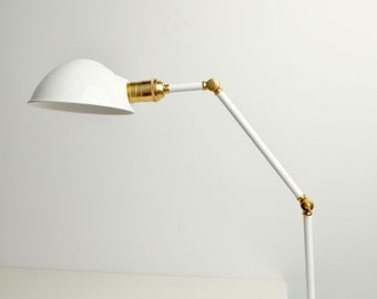 Clamp on articulating desk lamp, work light