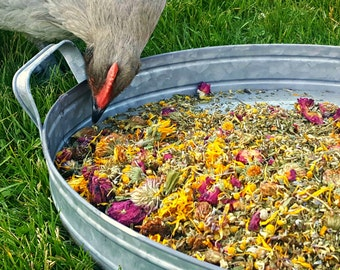 Herbs for Hens COOP CONFETTI™ Chicken Herbal Aromatherapy 1LB 100% Natural Nest Box Mix Dried Mint Lavender RosePetals Chamomile Calendula
