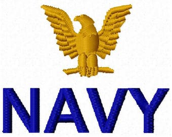 Navy Embroidery Design - Instant Download
