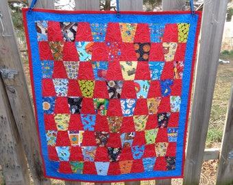 I Spy Tumbling Blocks Baby Quilt, I Spy Quilt, Baby Quilt 0412-07