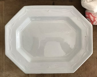 Antique white ironstone platter