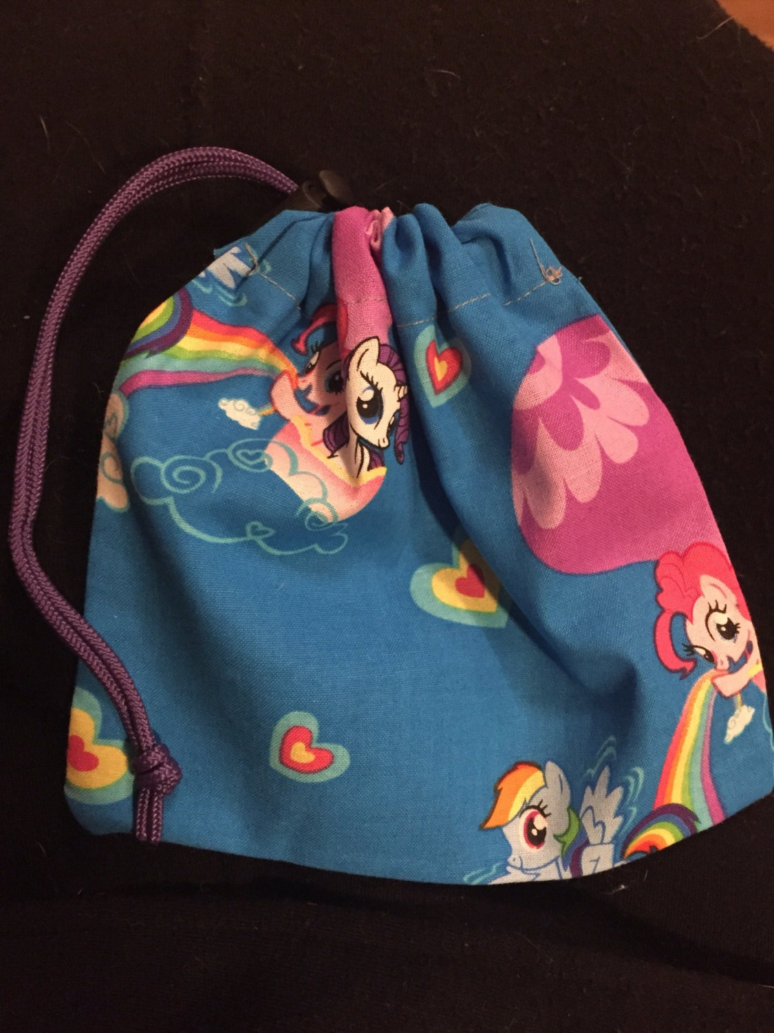 Drawstring bags for dice jewelry makeup and more my little for Drawstring jewelry bag pattern
