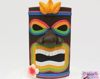 Tiki Mask Cake Topper - Luau Cake Topper