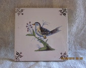 Antique, Sweet Dutch Ceramic Tile Handpainted Tile Dutch Folkart