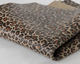 New Leopard Print Genuine Leather , Soft Calf Skin