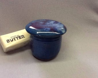 French butter keeper. Jade glaze.