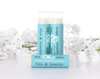 Personalized Lip Balm - 25 Vintage Wedding Favors - 25 Lip Balm-Chapstick Stickers and Lip Balm Tubes - Wedding Lip Balms