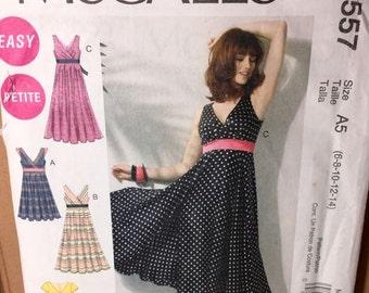 McCalls Miss Petite Surplice Dresses M6557