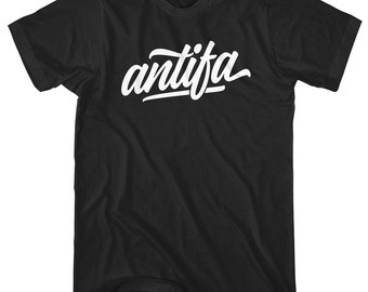 Antifa T-Shirt - Men and Unisex - XS S M L XL 2x 3x 4x - Gift, Antifa Shirt, Anti-Fascist Shirt, Fascism, Fight Nazis, Action, Anarchy Tee