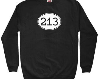 Area Code 213 Sweatshirt - Men S M L XL 2x 3x - Crewneck, Los Angeles Sweatshirt, Echo Park Sweatshirt, Chinatown Sweatshirt, Pico Union LA