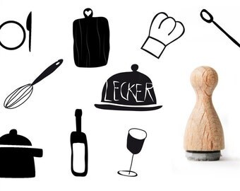 Cooking rubber stamp, Kitchen Rubber Stamp, Tiny rubber stamp for cooks, Chef's rubber stamp, Bottle of wine rubber stamp