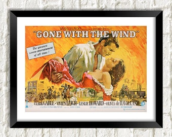 GONE WITH The WIND: Classic Hollywood Movie Poster Art Reprint