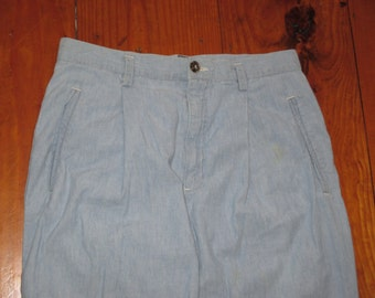 Vintage 1990s Chambray Denim Hippie Pants
