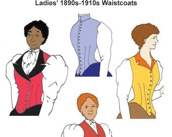 RH1008 — Ladies' Vest for the 1890s-1910s