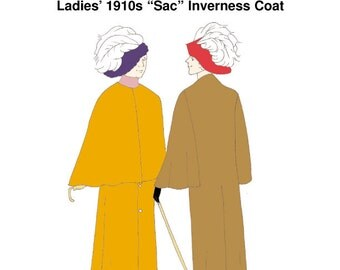 "RH1061 — Ladies' 1910s ""Sac"" Inverness Coat"