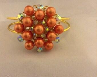 Repurposed Vintage Brooch Bracelet