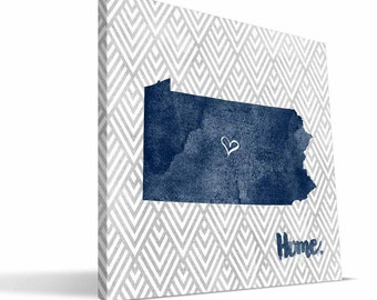 Penn State Nittany Lions 12x12 Home Canvas Print