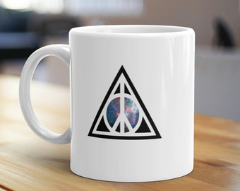 Peace for Wizards Mug, Unique Coffee Mug, Illustrated Mug, Cute Mug, Gifts for Him, Gifts for Her, Magic Mug, Fan Mug, Bookish Mug, Nerd Mug