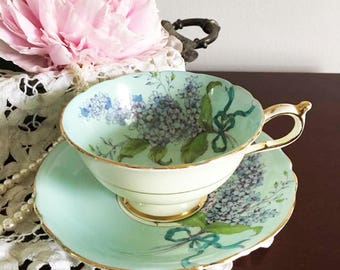 Lilac China Teacup and Saucer by Paragon / Made in England