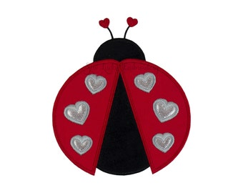 LadyBug Patch - Love Bug Patch - Lady Bug Patch - Ladybug Applique - Embroidered Patch - Iron On Patch - Sew On Patch - Animal Patch