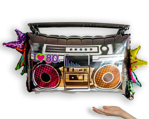 80s Boombox Giant Foil Balloon