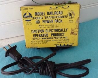 HO Power Pack - Model Railroad hobby transformer - AHM - Model 70269 - Train collector - collectible - man cave - gift for him