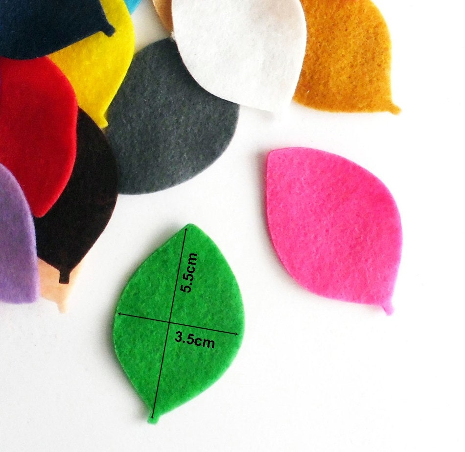Felt leaves 28 pieces die cut shapes felt shapes party for Wedding craft supplies