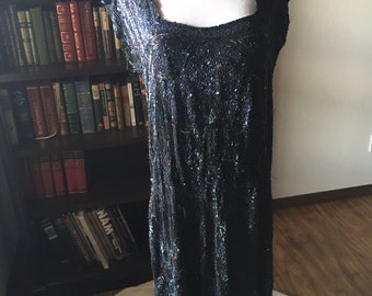 Jaw-Dropping Antique 1920s Beaded French Flapper Dress