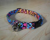 CAT COLLAR  Wild cat cotton Breakaway collar