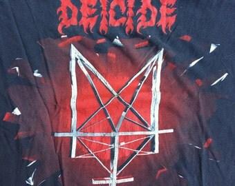 "vintage DEICIDE shirt - 1992 - ""Legion World Tour"" - Strange Size!"