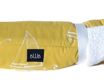 Dog Bed - Yellow Sailboats Dog Travel Bed Roll