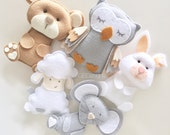 Baby mobile - animals mobile - owl mobile - baby crib mobile - baby mobile owl - baby mobile animals - neutral mobile