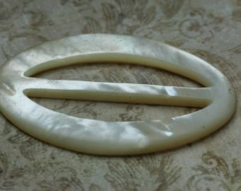 Vintage Shell Buckle - MOP