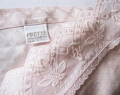 Matching Pair of Vintage FRETTE Royal Collection Italian Peach-color Pillow Shams