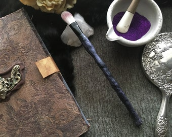 Magic Wand Makeup Brush - Makeup Brush - Magic Wand - Cometic Brush - Hand Crafted Makeup - Brush - One of a Kind - Prop - Goth - Cosplay