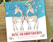 Personalised To My Grandparents Christmas Card | Deer & Stag