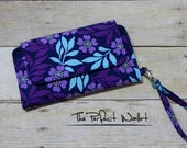 Wallet Clutch iPhone 6 PLUS/7 PLUS Wallet Case or Samsung Galaxy Note Wallet Accessory...Cell Phone Wallet; Smart Phone Wristlet Wallet