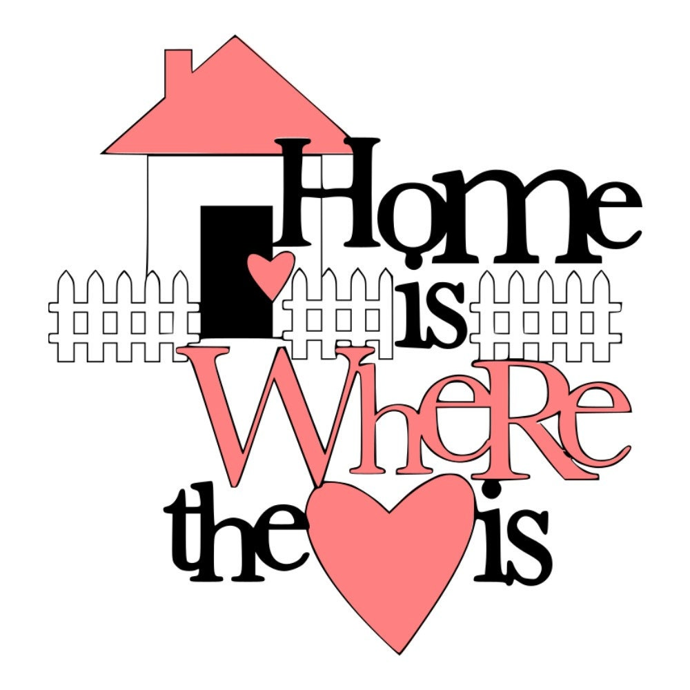 SVG Home is Where the Heart is Home Home Decor Kitchen