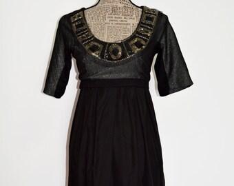 Christmas Dress , CLEARANCE Little black Dress , New Year  Party Dress  , 1990s black silk Dress  , Audrey Hepburn Dress , Urban Dress