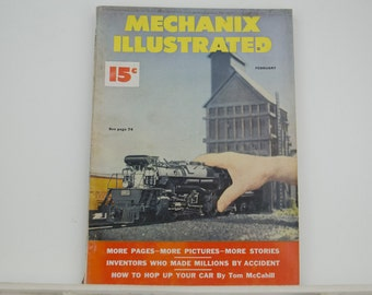 Mechanix Illustrated Magazine, February 1950 - Great Condition, Tips,  Science, Technology, Hundreds of Vintage Ads