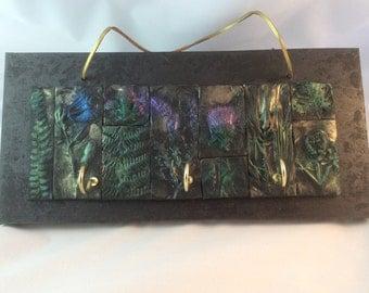 Scottish gift - Key Holder - Thistle,Heather,Scots Pine,Harebell,Bracken Mosaic