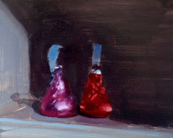 "Archival 10"" x 10"" Art Print / Free Shipping / Shadowed Kisses (no.151) Oil Painting Realism Hershey's Kisses Candy Still Life"